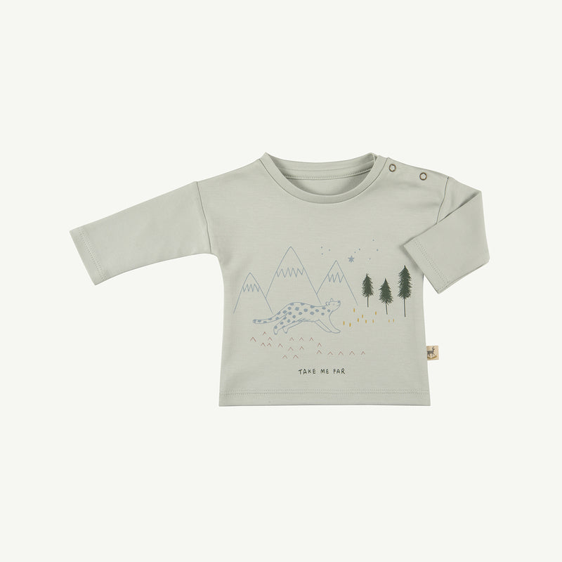'take me far' sky gray basic t-shirt