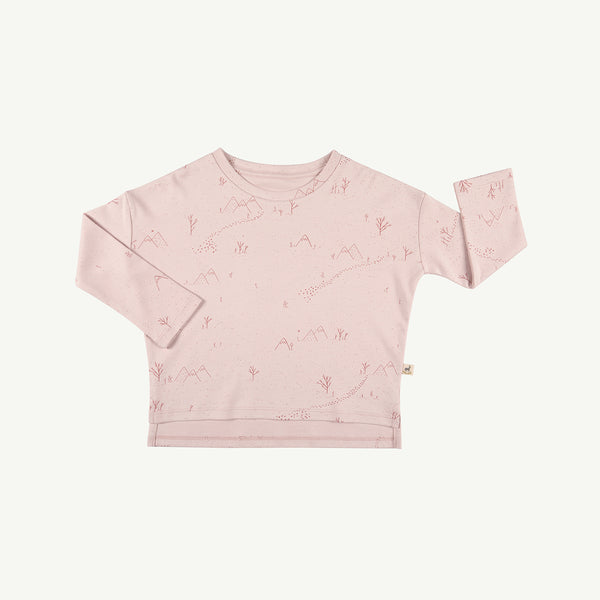 'yeti tracks' peach whip oversized t-shirt