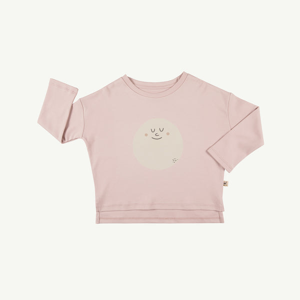 'happy moon' peach whip oversized t-shirt