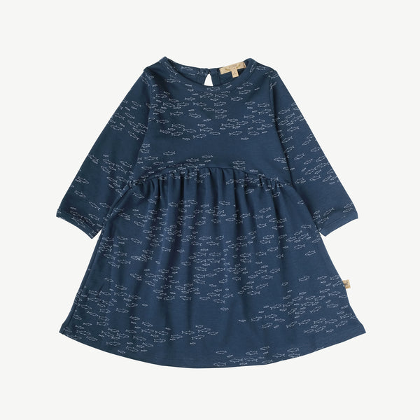 'schooling fish' poseidon blue dress