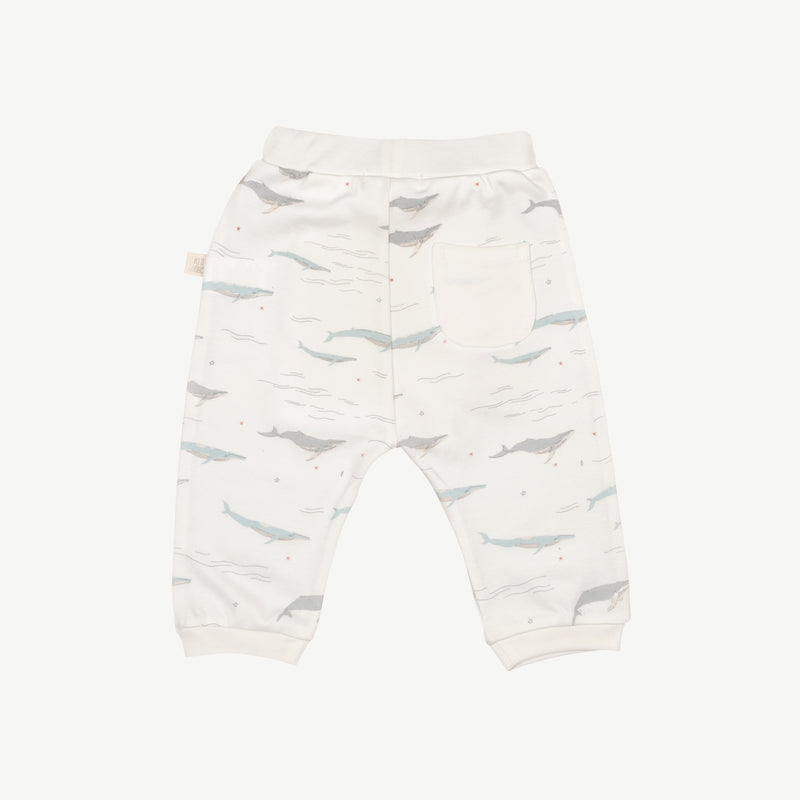 'passing whales' eco white basic pants
