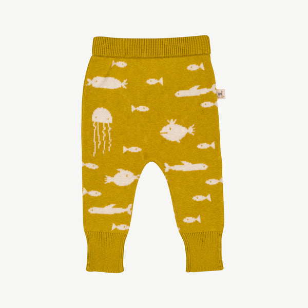 'stranger fish' mustard knit pants