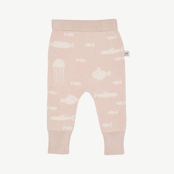 'stranger fish' heavenly pink knit pants