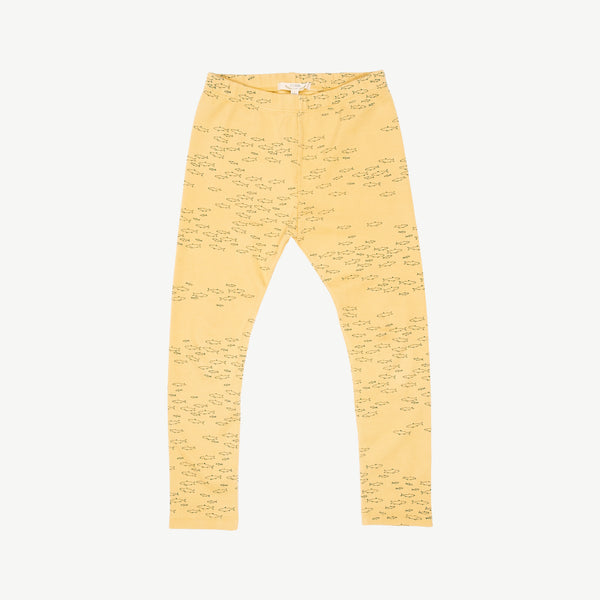 'schooling fish' corn silk legging