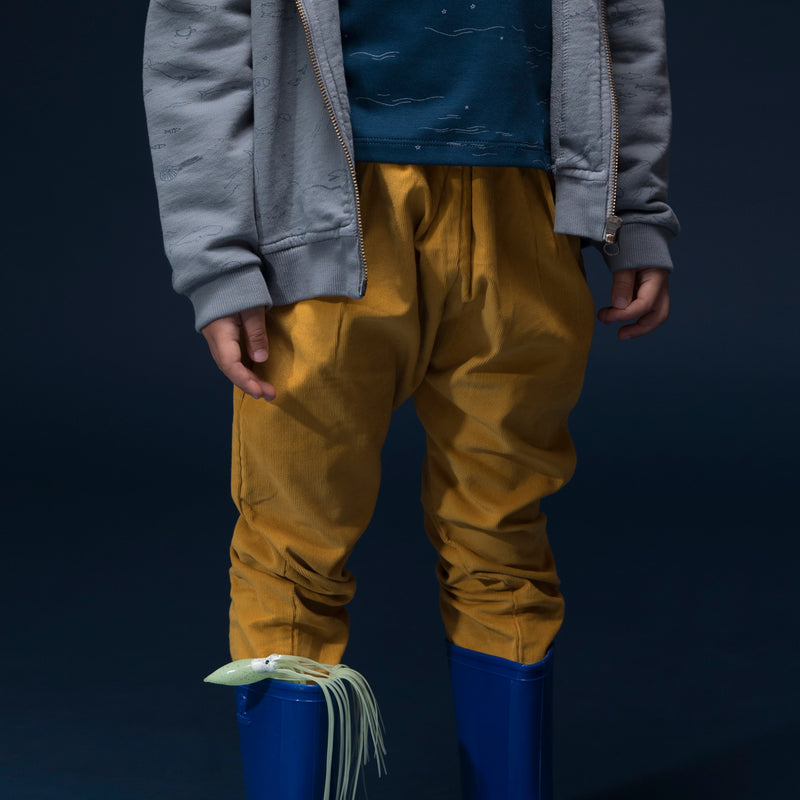 'corduroy' mustard trousers