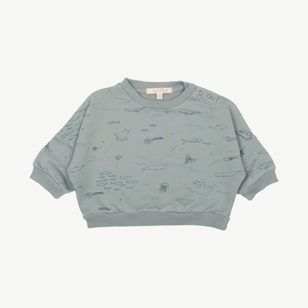 'the story' chinoise green sweatshirt