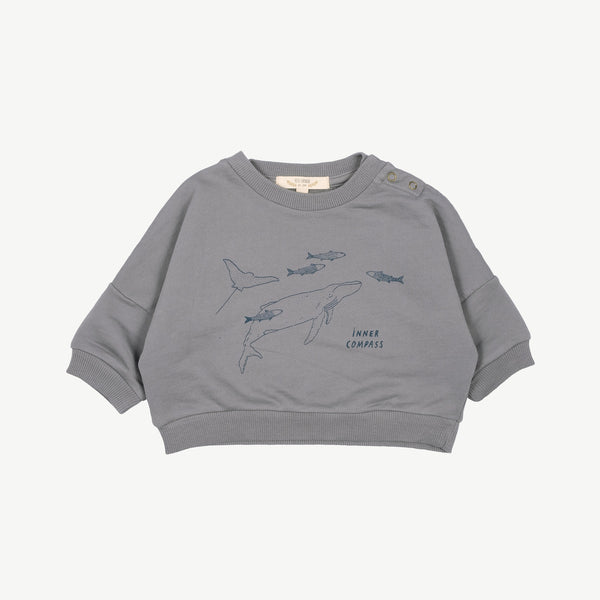 'inner compass' charcoal gray sweatshirt