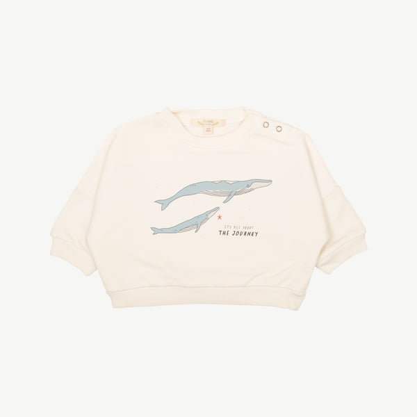 'the journey' ivory sweatshirt