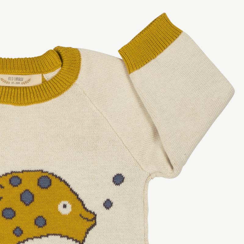 'steve (blowfish)' ivory knit pullover