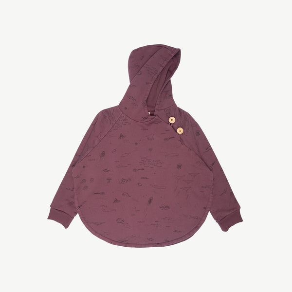 'the story' plum wine poncho
