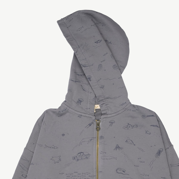 'the story' charcoal gray hoddie