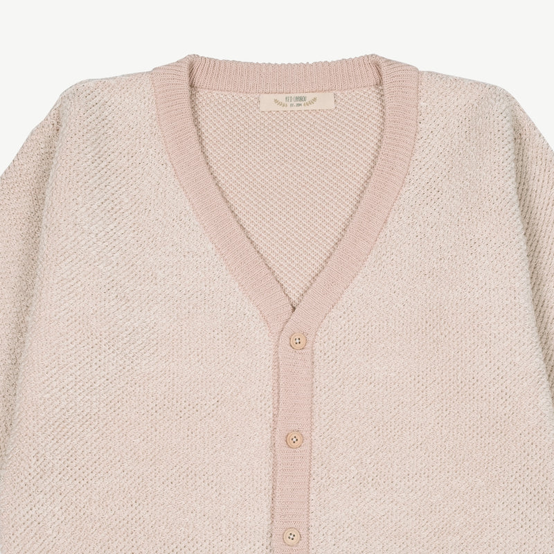 'sponge reef' pink multi knit cardigan