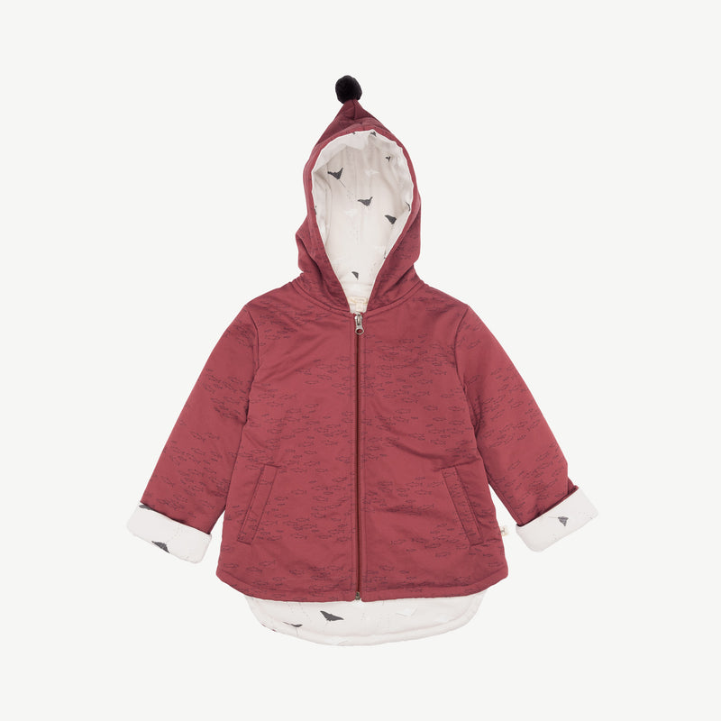 'schooling fish' rosewood insulated jacket