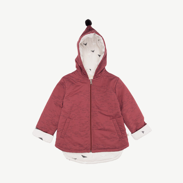 'schooling fish' rosewood padded jacket