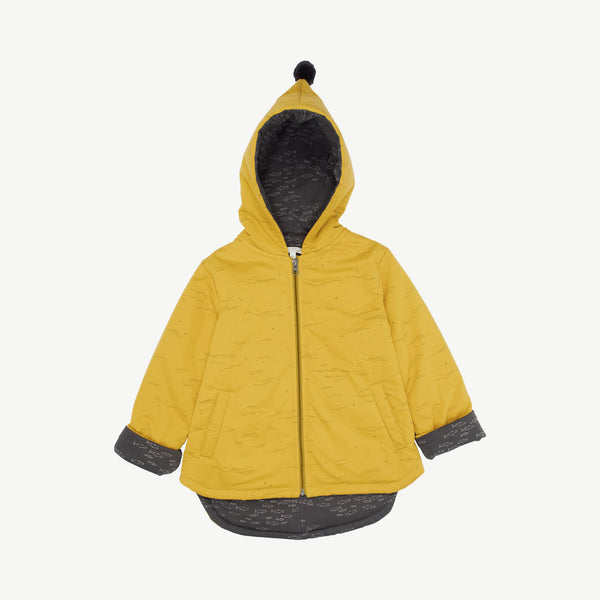 'tides & stars' mustard insulated jacket