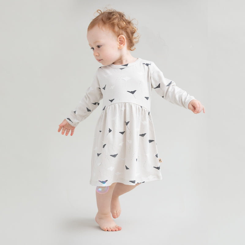 'ocean voyagers' glacier grey	baby dress