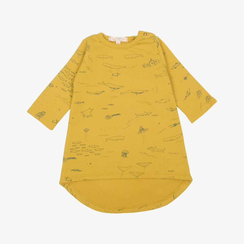'the story' mustard french terry dress