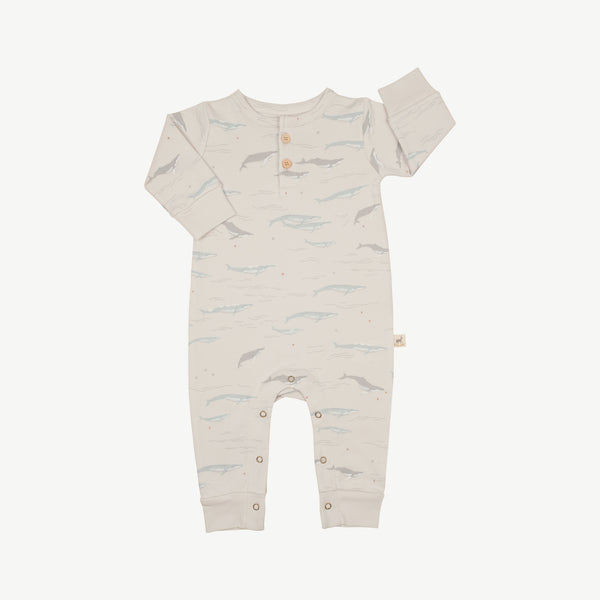 'passing whales' glacier grey jumpsuit