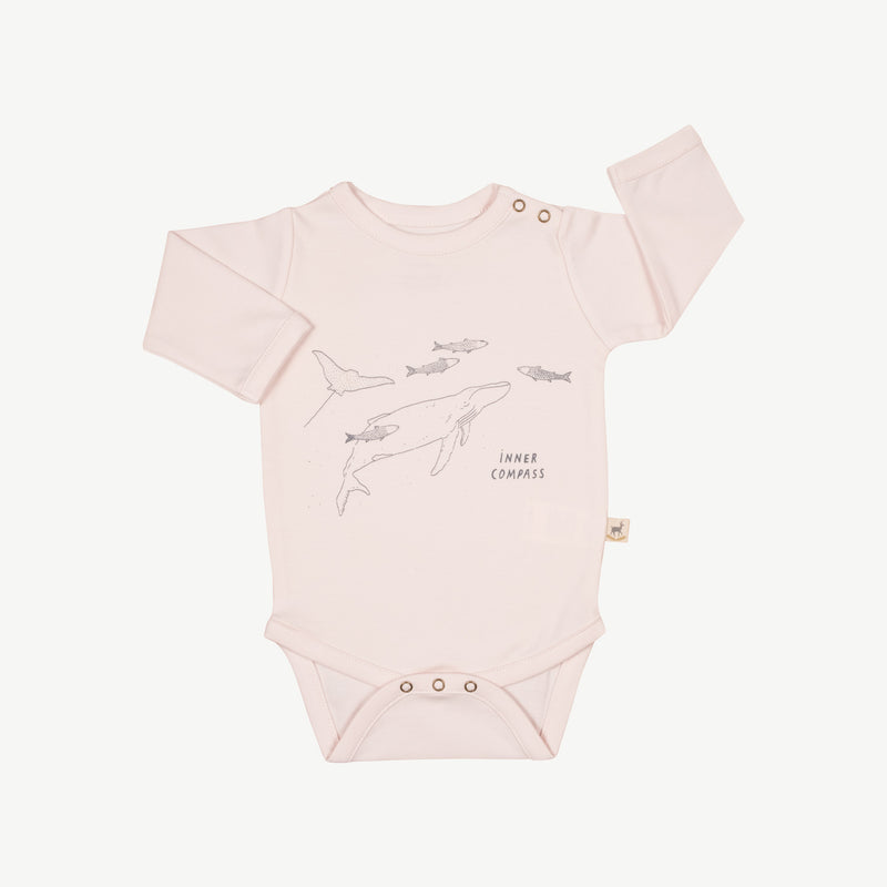 'inner compass' heavenly pink onesie