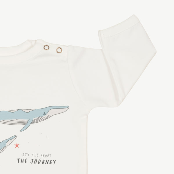 'the journey' eco white onesie