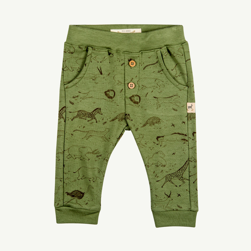 'the story' vineyard green buttons pants