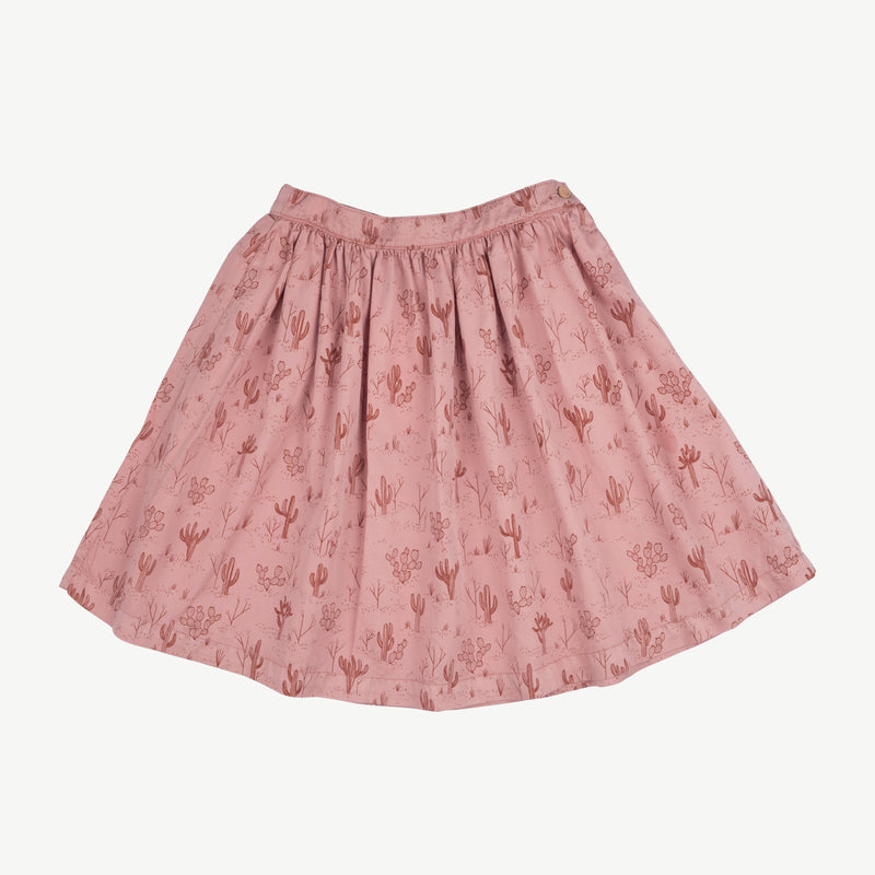 'cacti garden' rose dawn woven midi skirt