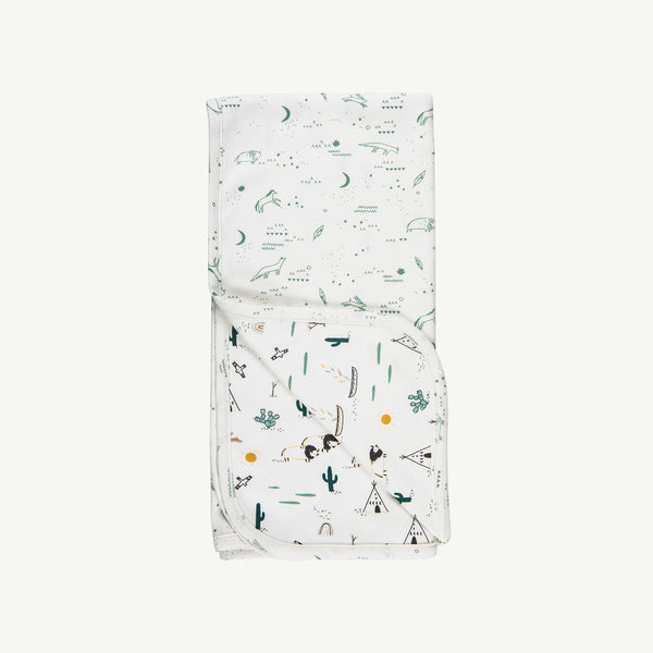'nocturnal adventure' organic double sided blanket