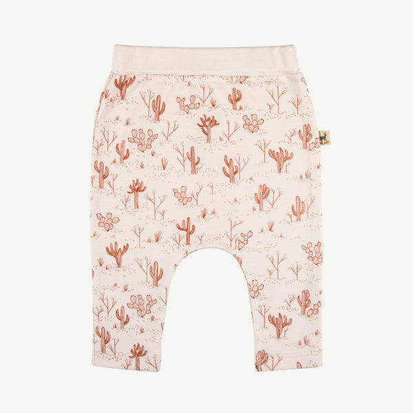 'cacti garden' baggy pants - blush