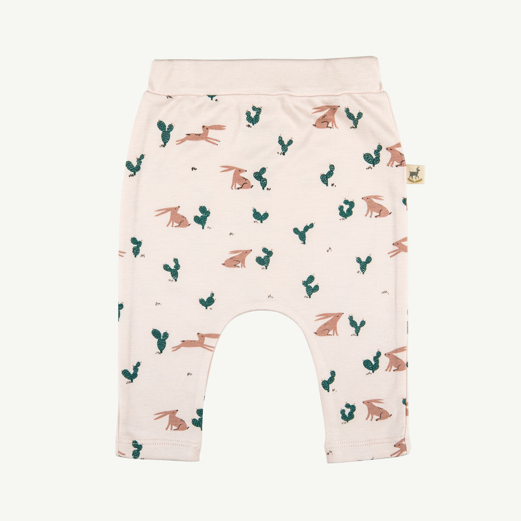 'prickly rabbit' blush baggy pants