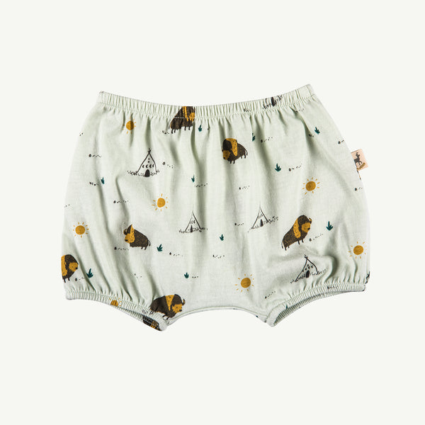 'shaggy bison' green lilly jersey bloomers