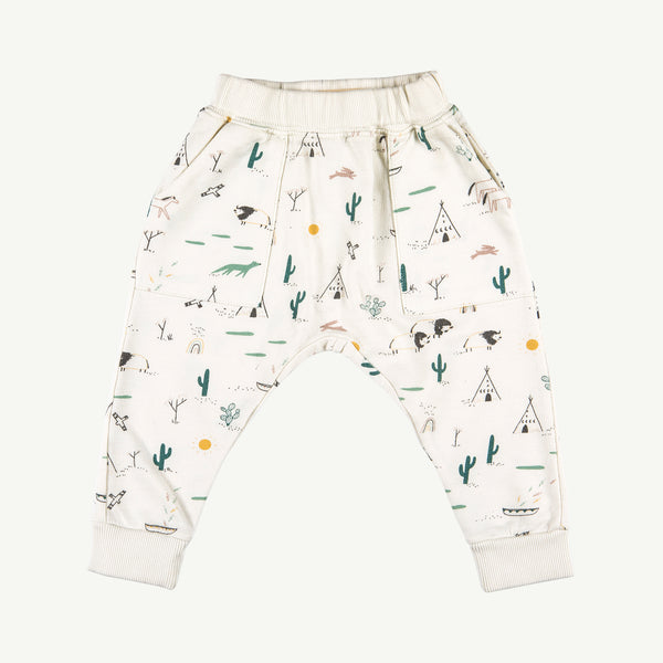 'native desert' ivory french terry jogger
