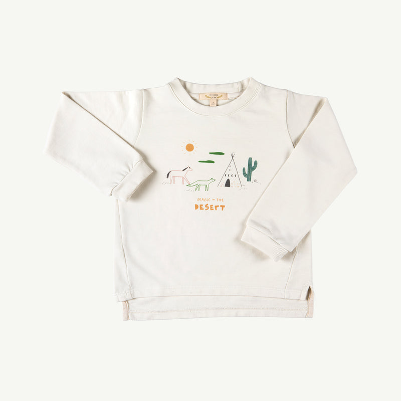 'magic in the desert' ivory french terry sweatshirt
