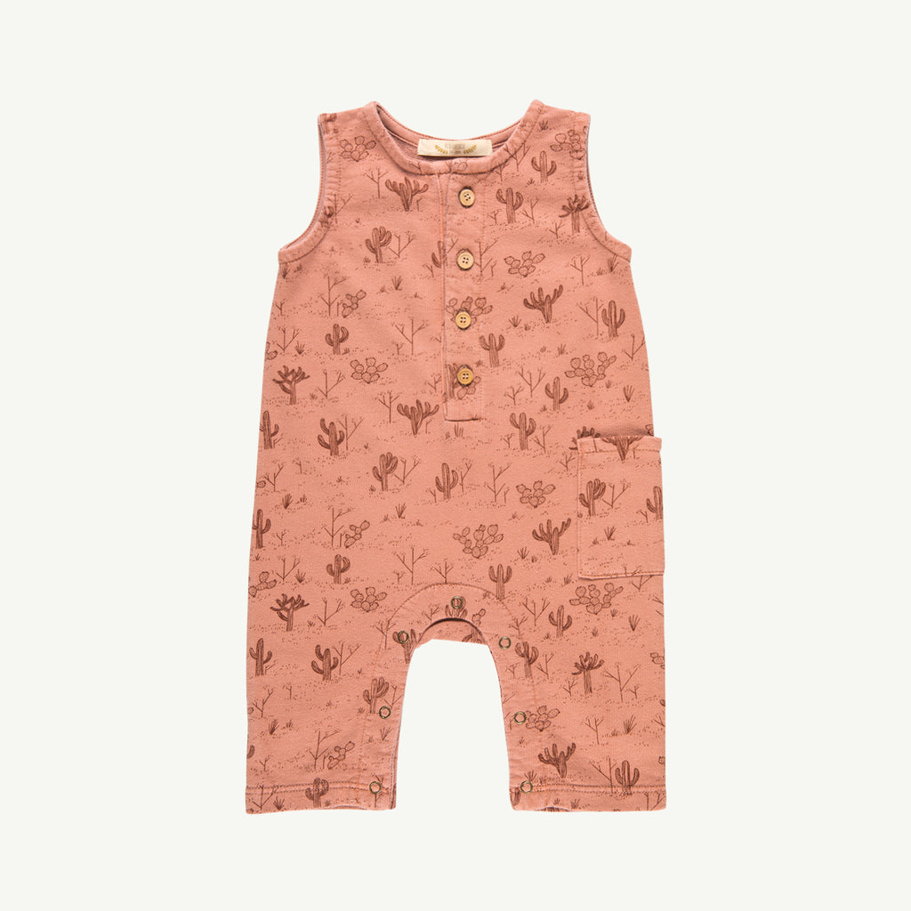 'cacti garden' rose dawn french terry romper
