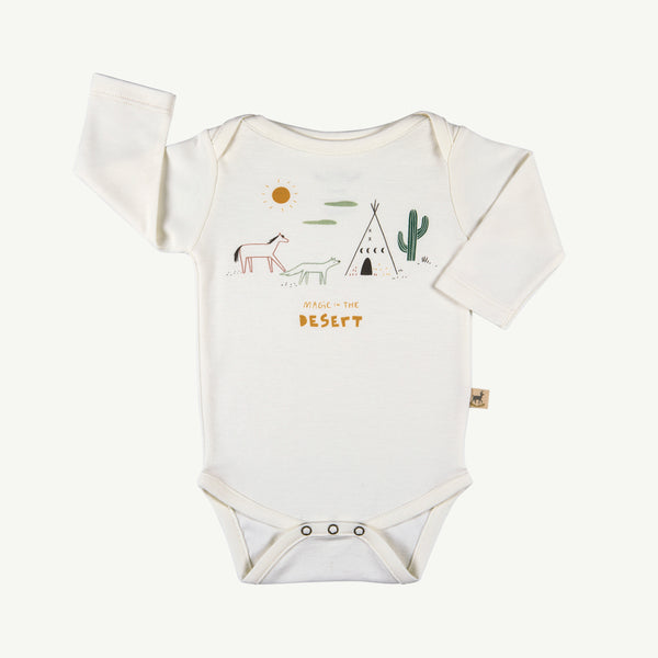 'magic in the desert' organic l/s onesie