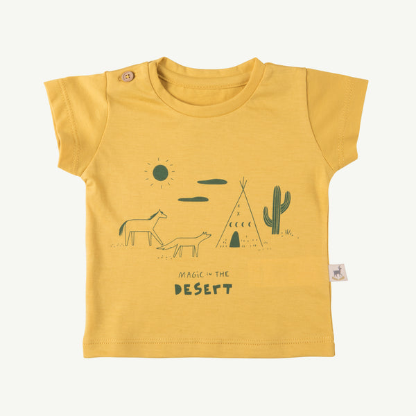 'magic in the desert' bamboo round neck t-shirt