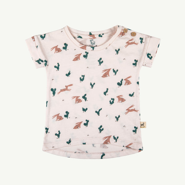 'prickly rabbit' blush teardrop t-shirt
