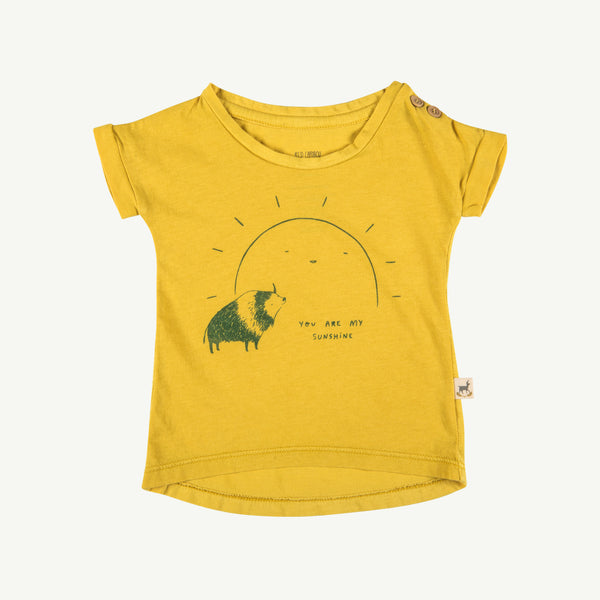 'my sunshine' bamboo teardrop t-shirt