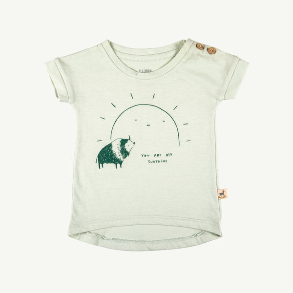 'my sunshine' green lilly teardrop t-shirt