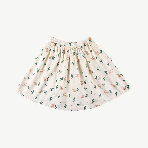 'prickly rabbit' ivory woven midi skirt