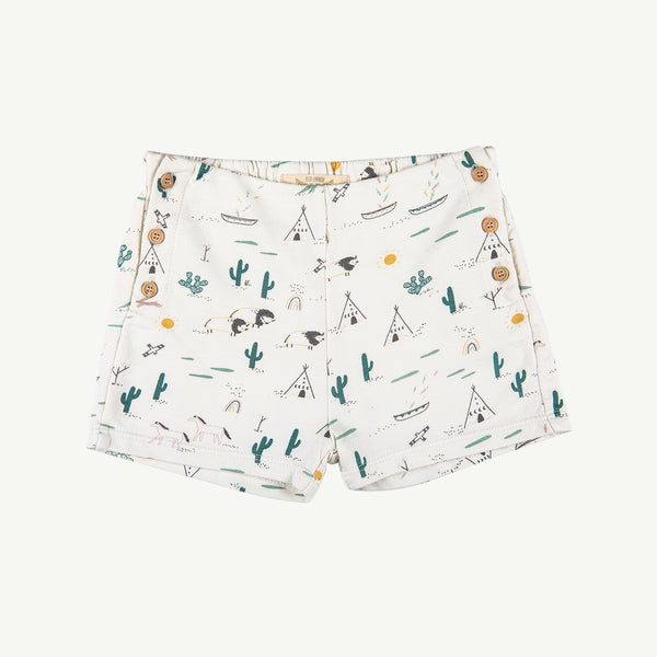 'native desert' ivory french terry short