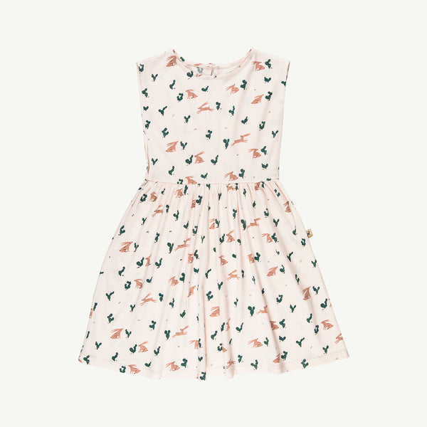 'prickly rabbit' blush cacti dress