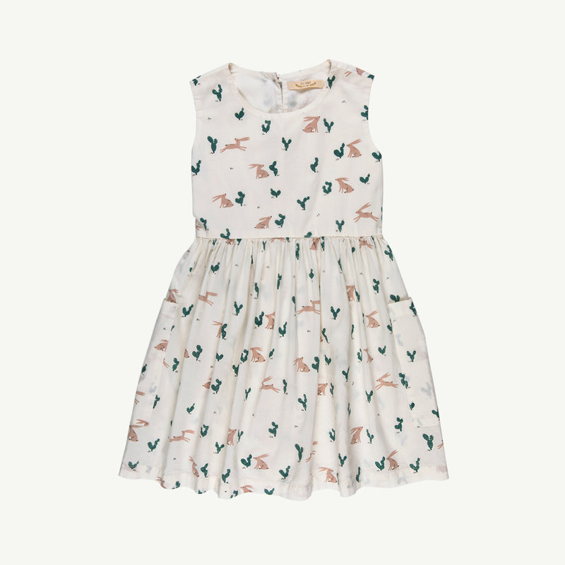 'prickly rabbit' woven pockets dress - ivory