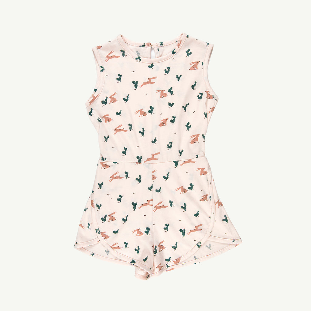 'prickly rabbit' blush runner romper