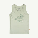 'keep growing' green lilly tank top
