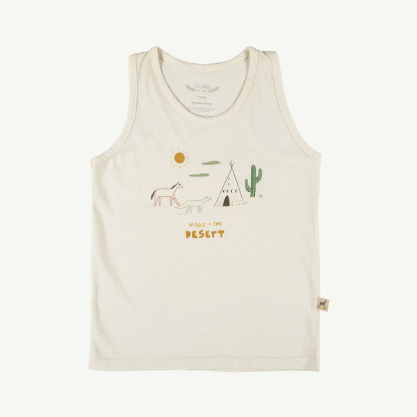 'magic in the desert' ivory tank top