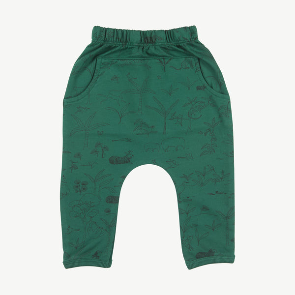 'the story' antique green jogger