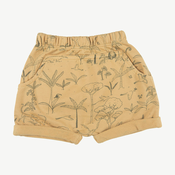 'the story' ocre shorts