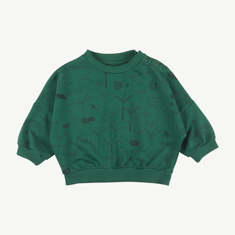 'the story' antique green sweatshirt