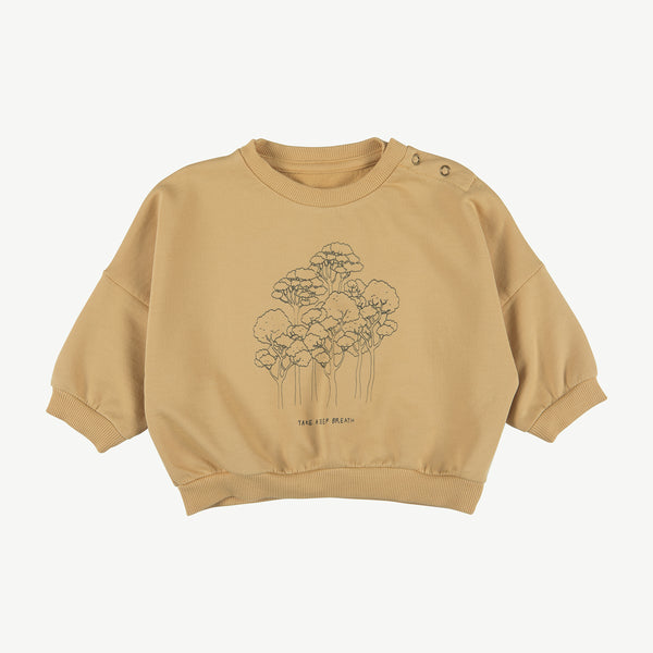 'take a deep breath' ocre sweatshirt
