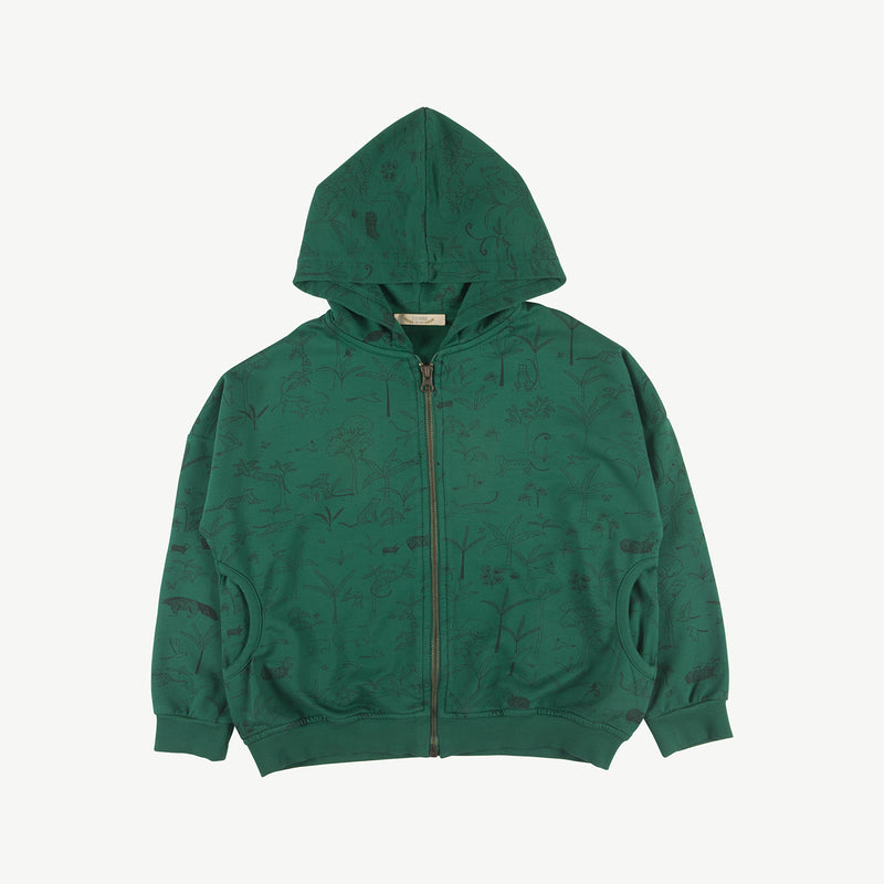 'the story' antique green hoodie